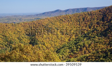This is a fall image of the Blue Ridge Mountains in Virginia.