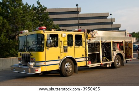 This is a fire department pumper rescue truck.