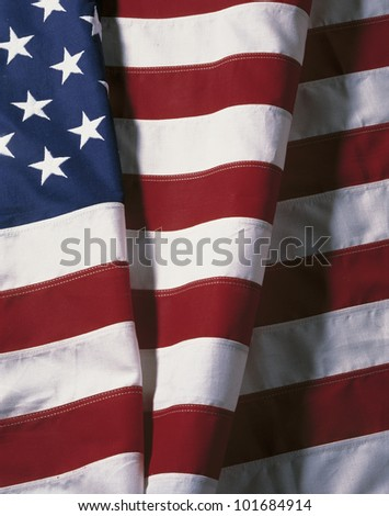 This is a folded American flag.