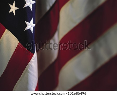 This is a hanging American flag.