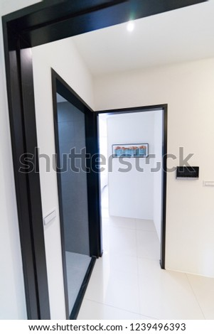This is a newly decorated room. There are beds, bookcases, desks, chairs, wardrobes, etc. in the room. The bright room is suitable for living. #1239496393
