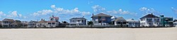 This is a panoramic shot of a homes located in a shore town in New Jersey.