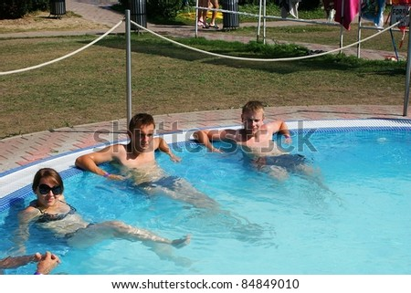 This is a person on the swimming pool