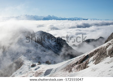 this is a photo of mountain in...