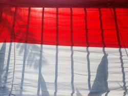 this is a photo of the flag from Indonesia or in bahasa