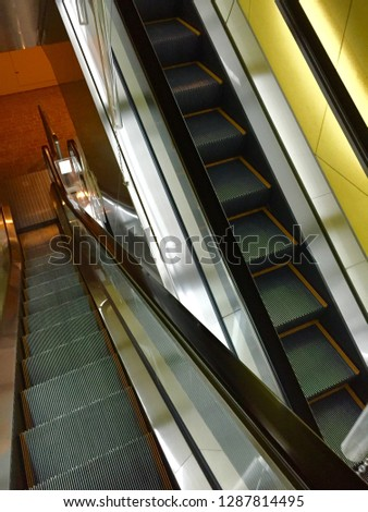This is a picture of the escalator #1287814495