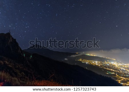 This is a picture taken in national park of El Teide, the highest mountain of Spain, situated in Tenerife, Canary Islands. It was late midnight so I had to take this pic using long exposure technique.