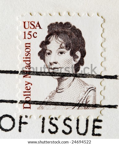 This is a Postage Stamp dolly madison