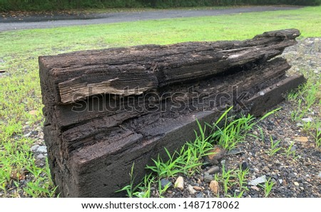 This is a railroad tie from the coal mining train in Thurmond West Virginia..