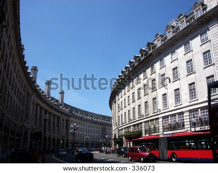 This is a Regents Street in London.