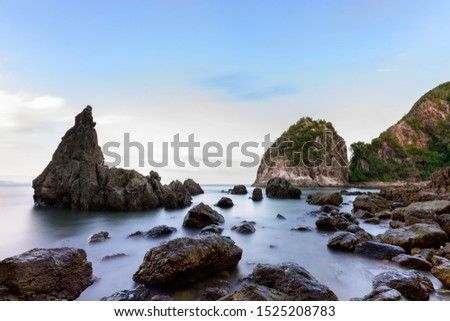 This is a rocky shoreline hidden behind mangrove forest. #1525208783