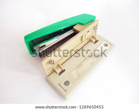 This is a stapler and a perforator punch.