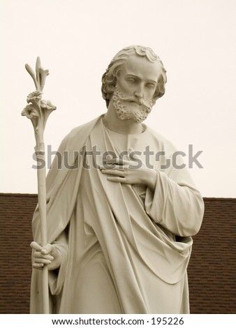 This is a statue of Saint Joseph.