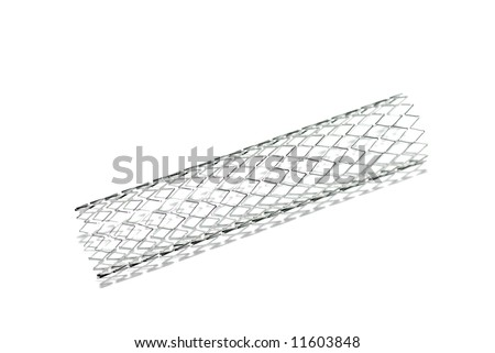 This is a stent. A stent is a small mesh tube that's used to treat narrowed or weakened arteries in the body.