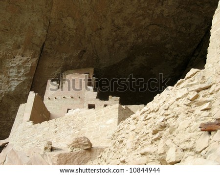 This is a tower at Cliff Palace Mesa Verde near Durango Colorado
