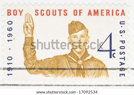 This is a Vintage 1960 canceled US stamp Boy Scouts of America