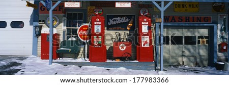 this is a vintage gas station...