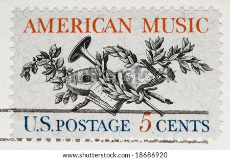 This is a Vintage 1964 Postage Stamp  American Music