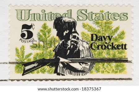 This is a vintage 1967 Stamp Davy Crockett