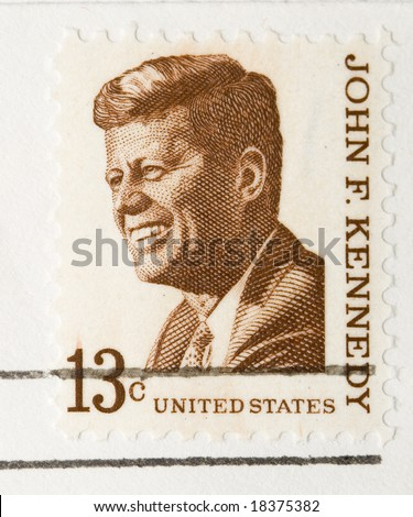 This is a vintage 1967  Stamp John F Kennedy