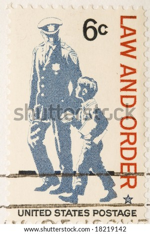 This is a Vintage 1968 Stamp Law And Order