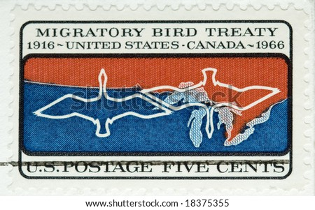 This is a vintage 1966  Stamp Migratory Bird Treaty