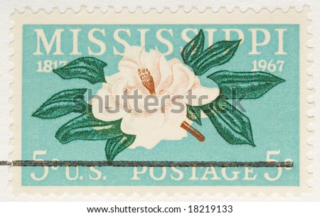 This is a Vintage 1967 Stamp Mississippi Anniversary