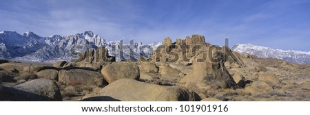 This is Alabama Hills National Park with Mount Whitney, the tallest mountain in North America.