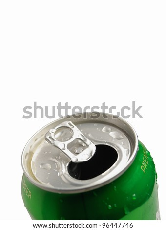 This is Aluminum can isolated on white background