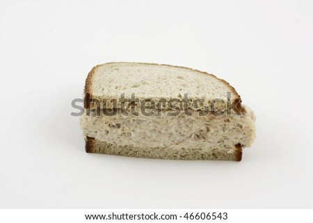 This is an image of a tuna fish sandwich.