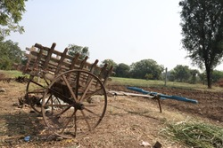 This is an old agricultural equipment