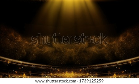 This Is Award Ceremony Black Gold Style Background Material