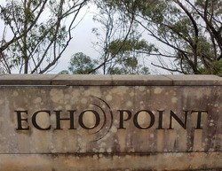 This is Echo Point located in Blue mountains in Australia. One of the best place to visit in Sydney, Australia.