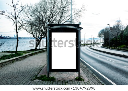 This is for advertisers to place ad copy samples on a bus shelter #1304792998