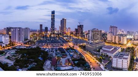 this is Hanoi cityscape  #745951006