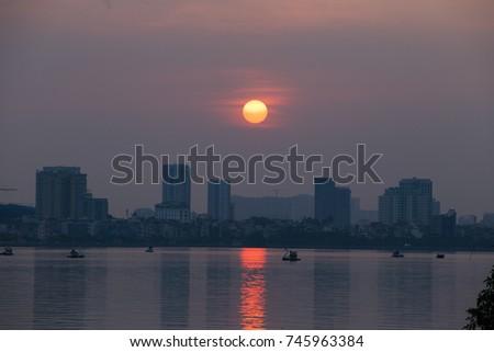 This is Hanoi cityscape  #745963384