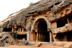 This is India's one of the most oldest caves. This cave is made up of 22 rocks. It exists since second century. It is situated near Pune, a metropolitan city in India. Name of the cave is BHAJA cave.