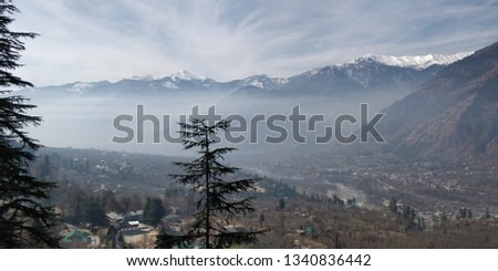 this is my manali pic collection . . . beautiful hills with snow lake and fog.