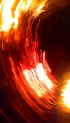 this is natural, fire in the dark, no camera effect, accidentally photographed