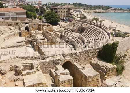 This is the archaeological site of Tarraco, World Heritage place.
