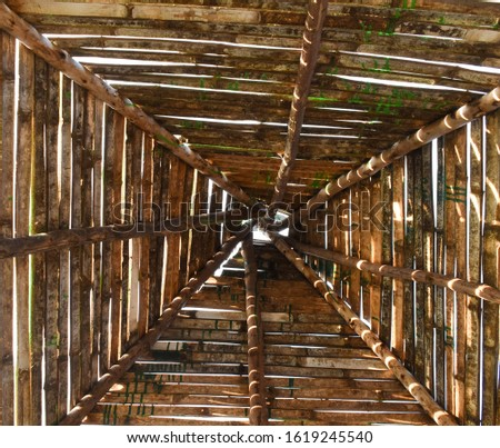 this is the architecture work doen in roof  Stockfoto ©