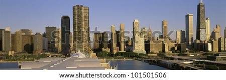 This is the Chicago skyline in morning light during summer. #101501506