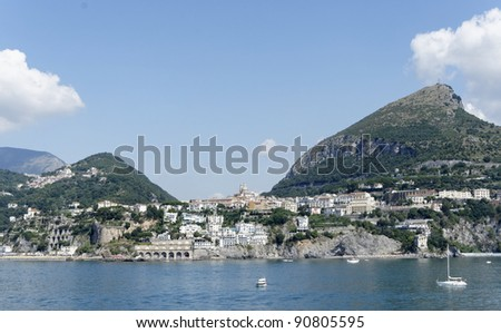 this is the coast in front of salerno , campania italy