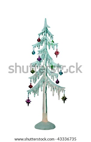 This is the cropped image of Christmas tree decoration
