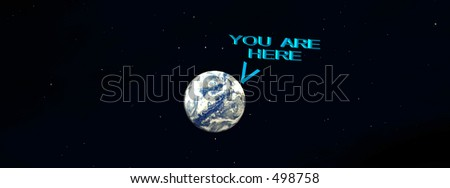 This is the Earth with a signpost on it.
