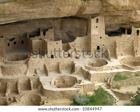 This is the Mesa Verde Cliff Palace near Durango Colorado