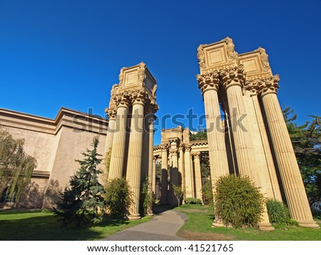 "This is the ""Palace of Fine Arts"" in San Francisco."