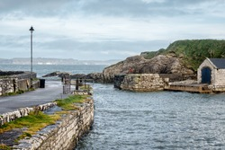 This is the small harbour at Ballintoy  on the North Antrim Coast in Northern Ireland