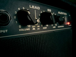 This is the sound of youth. Guitar amp close up