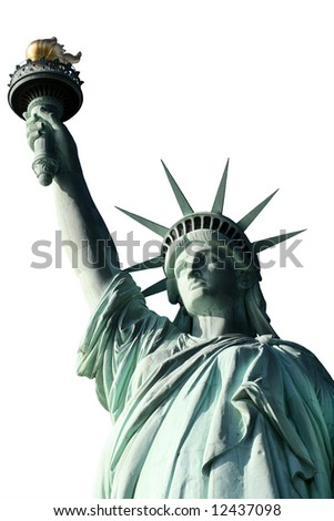 This is the top half of the Statue of Liberty  isolated